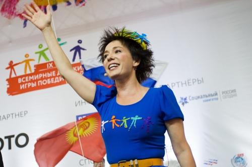Чулпан Хаматова на открытии Игр-2018