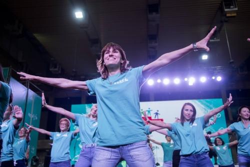 Традиционный танец волонтеров