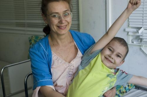 Клим с мамой в больнице