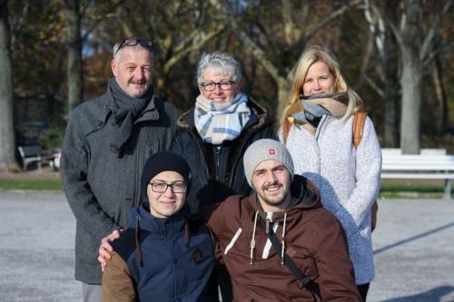 Ахмед, Тимо и его семья: папа Томас, мама Кристиан и невеста Жасмин