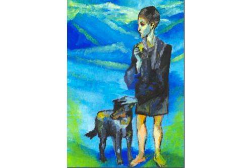 Такой Катя видит картину Пабло Пикассо «Мальчик с собакой»