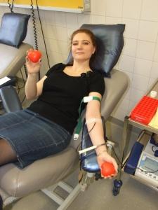 На донорской акции