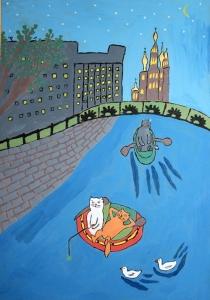 Рисунок Наташи Блохиной «Ловись, рыбка»