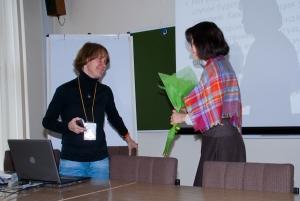 Екатерина Чистякова благодарит Юлию Грязнову
