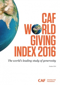 Мировой рейтинг благотворительности CAF-2016