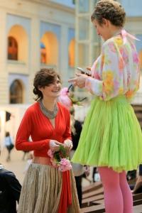 Дина на показе мод в рамках Moscow Fashion Week
