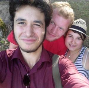 Вася Григорьевский (на переднем плане) с друзьями