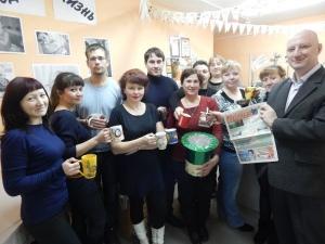 """Чаепитие в редакции """"Омутинских вестей"""""""