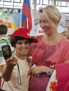 Татьяна Лазарева с участницей Игр