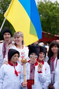 Дружная команда Украины