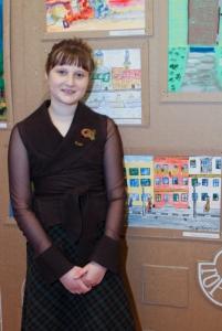 Ульяна Лаздовская со своей работой
