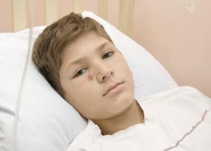 Сережа Варыгин во время болезни